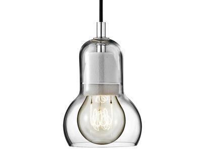 Luminaire - Suspensions - Suspension Bulb Ø 11 cm - Cordon noir - &tradition - Transparent / cordon noir - Verre soufflé bouche