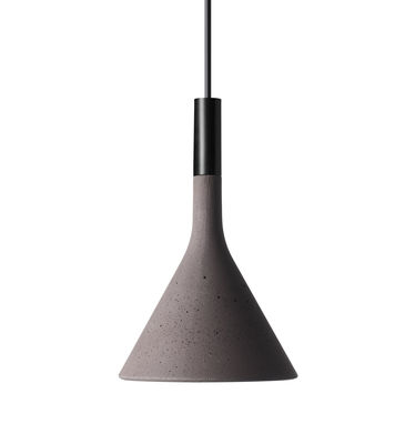 Suspension Mini Aplomb / Ciment - Ø 11,5 x H 21 cm - Foscarini brun en pierre