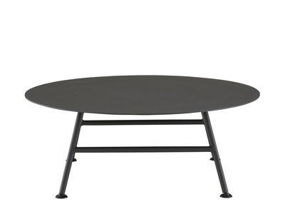 Table basse Garden Pack / Ø 80 x H30 cm - Cinna charbon en métal