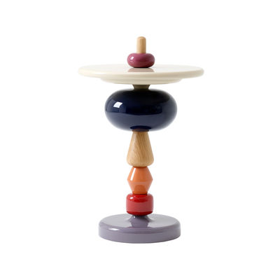 Mobilier - Tables basses - Table d'appoint Shuffle MH1 / Bois - Modulable - Ø 45 x H 69 cm - &tradition - Array / Chêne clair & rose - Chêne massif, MDF laqué