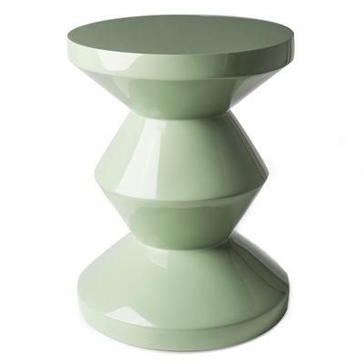 Mobilier - Tabourets bas - Table d'appoint Zig Zag / Plastique laqué - Pols Potten - Vert Olive - Polyester laqué