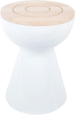 Mobilier - Tables basses - Tabouret Boto / Table H 50 cm - Version bois - XL Boom - Bois / Blanc - ABS, Bois