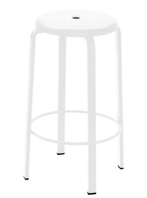 Tabouret de bar Demian / H 65 cm - Métal - Zeus blanc en métal