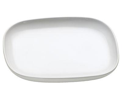 Tischkultur - Tassen und Becher - Ovale Untertasse für Teetasse Ovale - Alessi - Weiß - Keramik im Steinzeugton