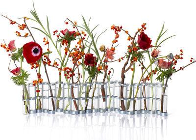 Déco - Vases - Vase d'avril Small / L 55 cm x H 10 cm - Tsé-Tsé - Small - L 55 x H 10 cm - Acier zingué, Verre soufflé