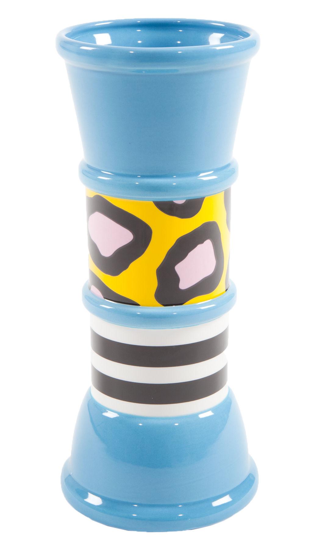 Interni - Vasi - Vaso Carrot - by Nathalie du Pasquier / 1985 di Memphis Milano - Multicolore - Ceramica