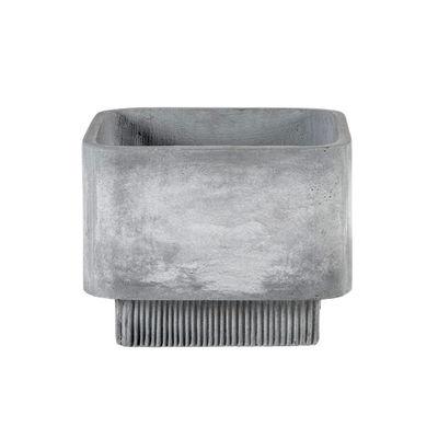 Outdoor - Vasi e Piante - Vaso per fiori Highlands Medium - / 42 x 42 cm - Fibra cemento di Bolia - medium / Grigio chiaro - Fibra-cemento