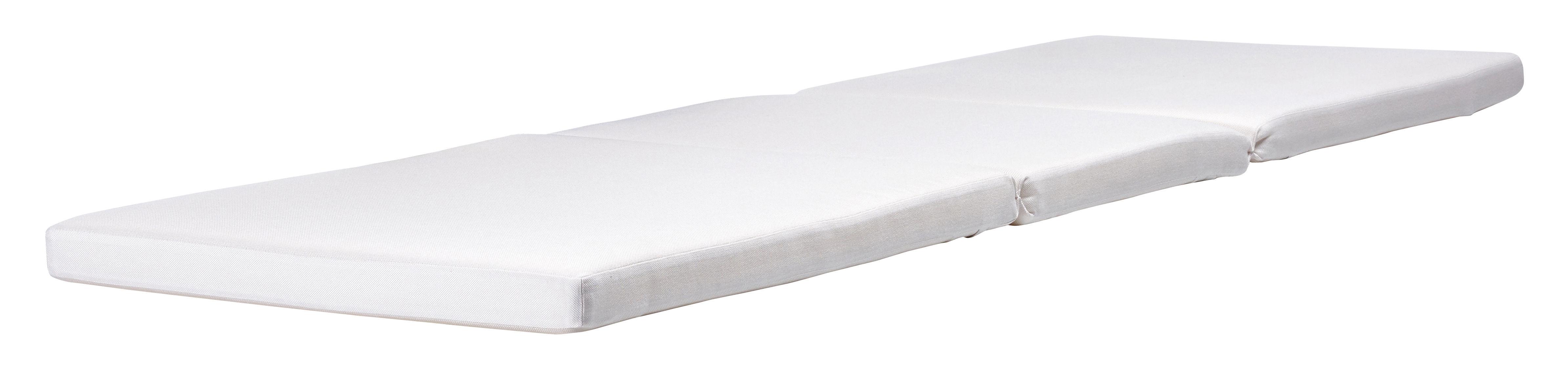 Outdoor - Chaises longues et hamacs - Accessoire canapé / Matelas pour bain de soleil Australis - 200 x 63 cm - Extremis - Coussin assise / Blanc - Polyester, Tissu Sunbrella®