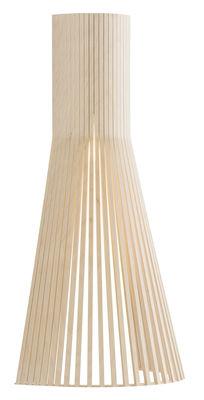 Applique avec prise Secto L / H 60 cm - Secto Design bouleau naturel en bois