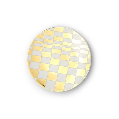 Arts de la table - Assiettes - Assiette à mignardises Sibilla / Ø 12 cm - Bitossi Home - Quadrillage - Porcelaine