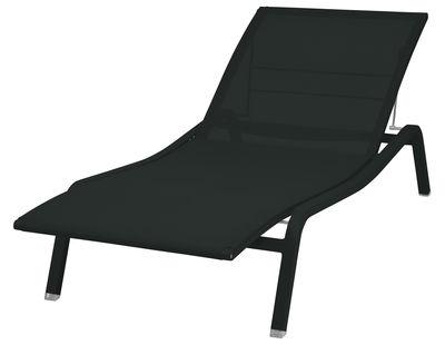 Bain de soleil Alizé / larg. 80 cm - 5 positions - Fermob noir en métal/tissu