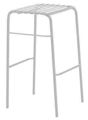 Furniture - Bar Stools - Striped Bar stool - H 78 cm - Plastic alu by Magis - White - H 78 cm - Polyamide, Varnished steel