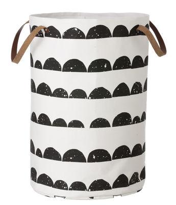 Decoration - Boxes & Baskets - Half Moon Basket by Ferm Living - Black , white - Cotton, Polyester
