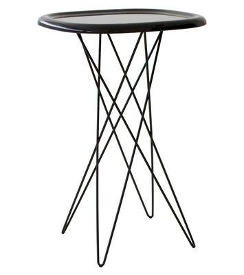 Möbel - Pizza Beistelltisch H 70 cm - Magis - H 70 cm - braun - ABS, gefirnister Stahl