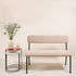 Le Tube Small Bench with backrest - / Fabric - L 110 cm by Maison Sarah Lavoine