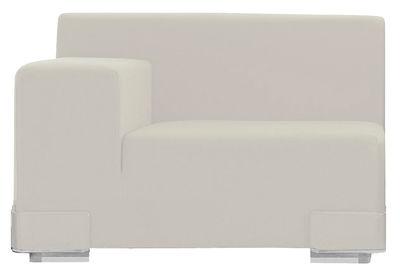 Canapé modulable Plastics / Module accoudoir droite - L 90 cm - Kartell blanc en matière plastique