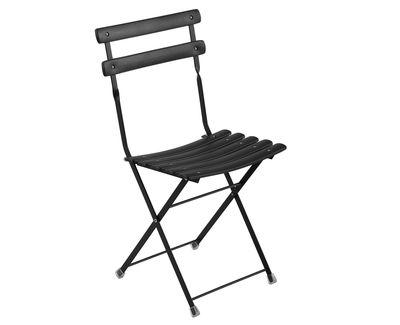 Chaise pliante Arc en Ciel / Métal - Emu noir en métal