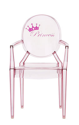 Furniture - Kids Furniture - Lou Lou Ghost Children armchair - / Patterns by Kartell - Rose / Princess - Polycarbonate