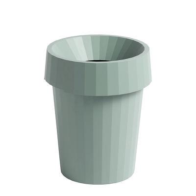 Accessoires - Accessoires bureau - Corbeille à papier Shade / Ø 30 x H 37 cm - Hay - Vert pâle - Polypropylène recyclable