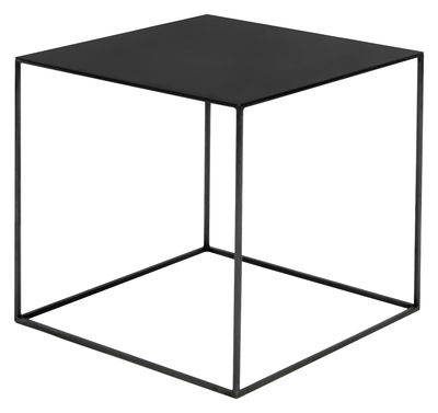 Möbel - Couchtische - Slim Irony Couchtisch / 41 x 41 x H 46 cm - Zeus - Stahl, schwarz - Stahl