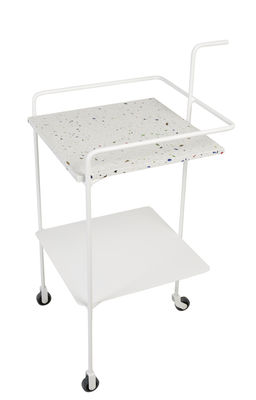 Desserte Confetti / Terrazzo & métal - OK Design pour Sentou Edition blanc,multicolore en métal