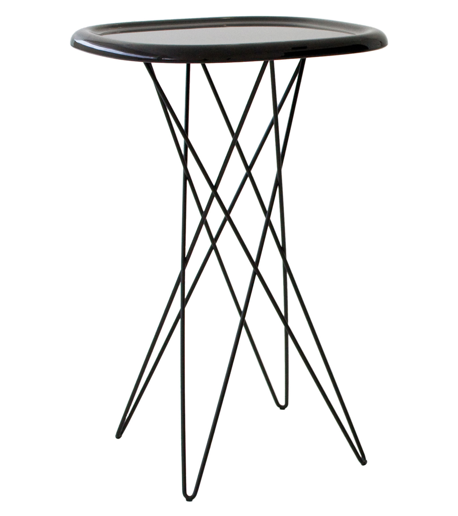 Furniture - Pizza End table - H 70 cm by Magis - H 70 cm - Brown - ABS, Varnished steel