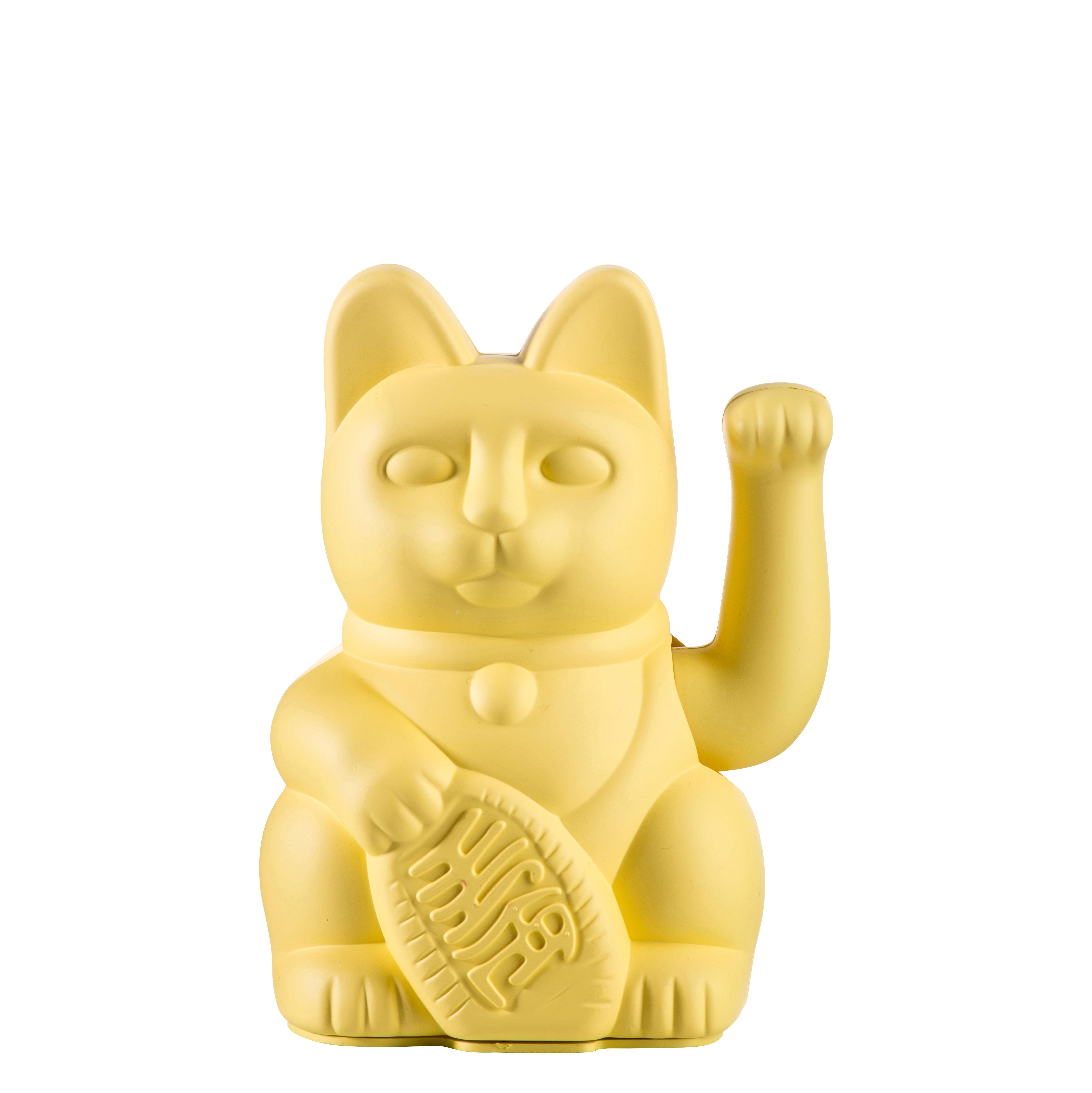 Déco - Pour les enfants - Figurine Lucky Cat / Plastique - Donkey - Jaune - Plastique