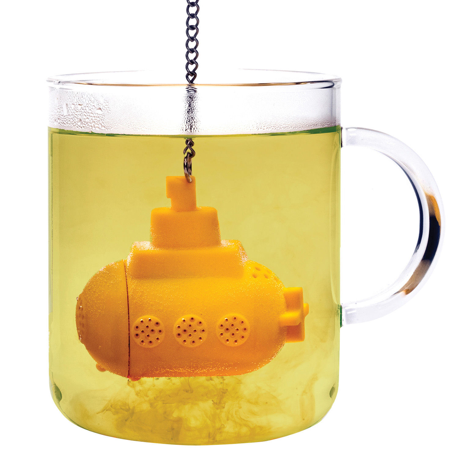 Tavola - Caffè - Filtro da tè Tea sub di Pa Design - Giallo - Silicone