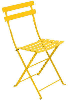 Furniture - Chairs - Bistro Folding chair - Metal by Fermob - Honey - Lacquered steel