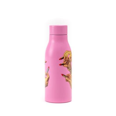 Arts de la table - Thé et café - Gourde isotherme Toiletpaper - Pink Lipsticks / Acier - 0,5L - Seletti - Pink Lipsticks / rose - Acier inoxydable, Cuivre