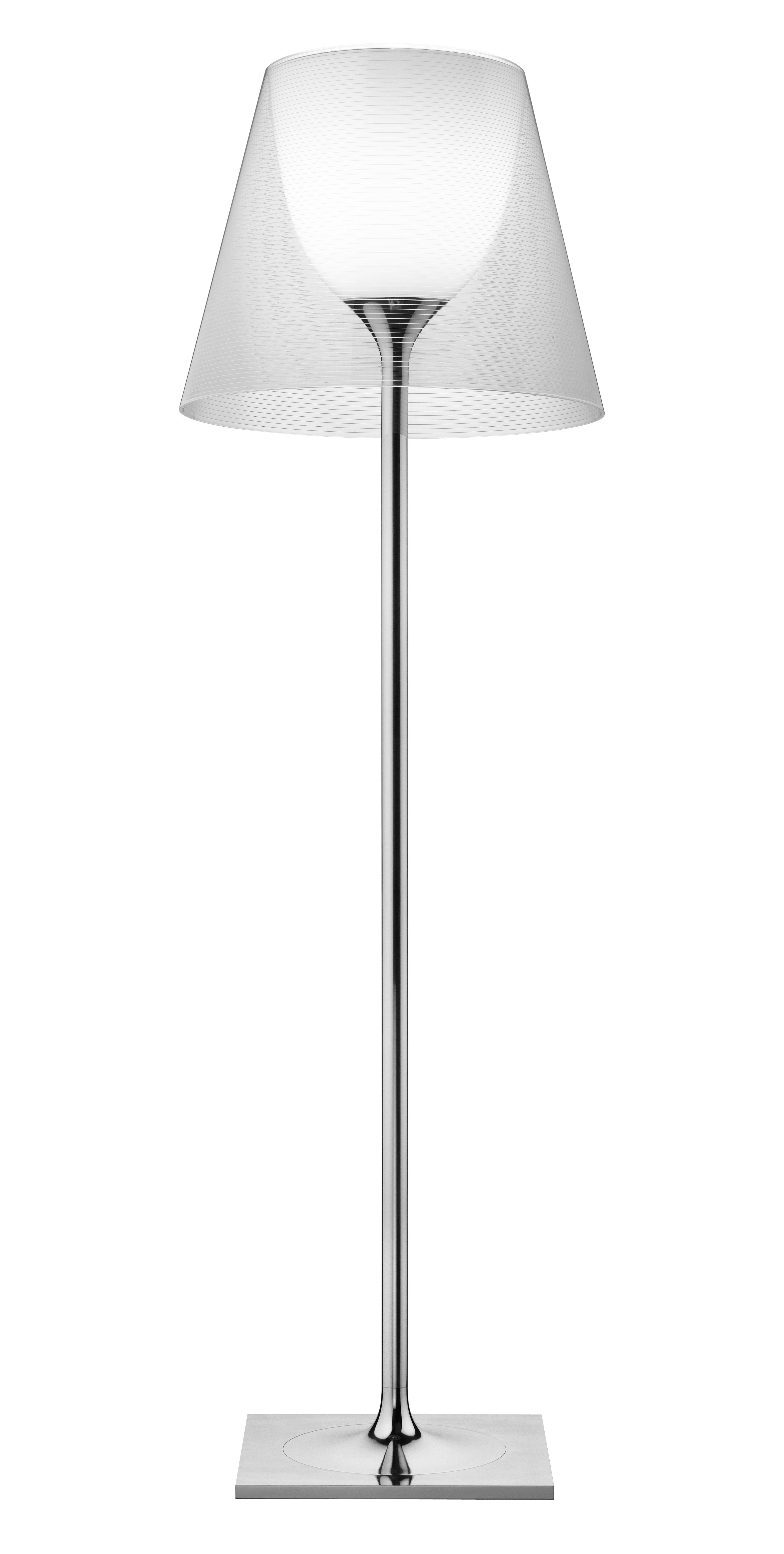 Illuminazione - Lampade da terra - Lampada a stelo K Tribe F3 - H 183 cm di Flos - Trasparente - Alluminio lucido, PMMA