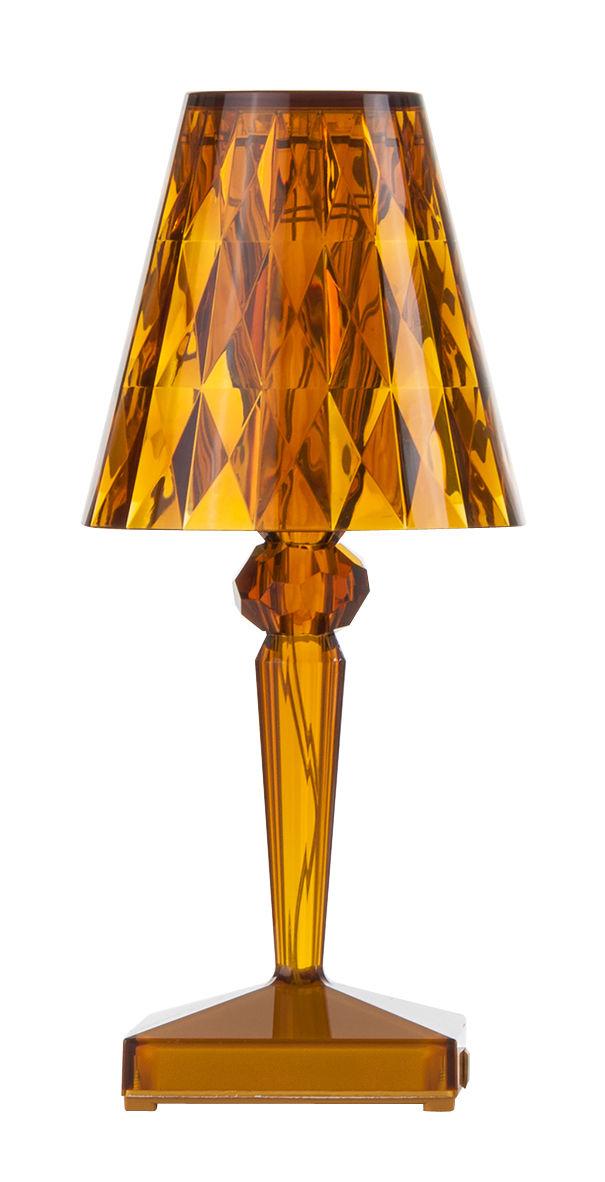 Illuminazione - Lampade da tavolo - Lampada senza fili Battery LED - Ricarica USB di Kartell - Ambra - PMMA