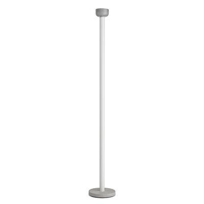 Lampadaire Bellhop / Base ciment - H 178 cm - Flos blanc en métal/verre/pierre