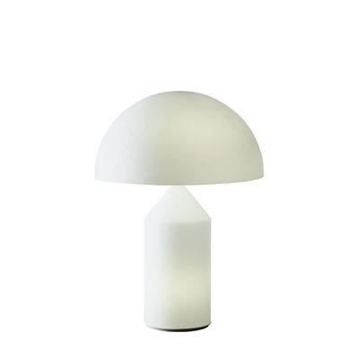 Lampe de table Atollo Medium Verre / H 50 cm / Vico Magistretti, 1977 - O luce blanc opalin en verre