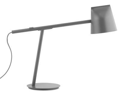 Lampe de table Momento LED / Orientable - H 44 cm - Normann Copenhagen gris en métal