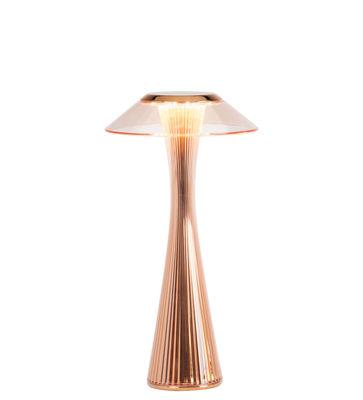 Lampe de table Space / LED - Rechargeable - Kartell cuivre en matière plastique