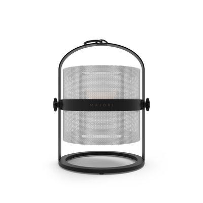 Lampe solaire La Lampe Petite LED / Hybride & connectée - Structure charbon - Maiori blanc,charbon en métal