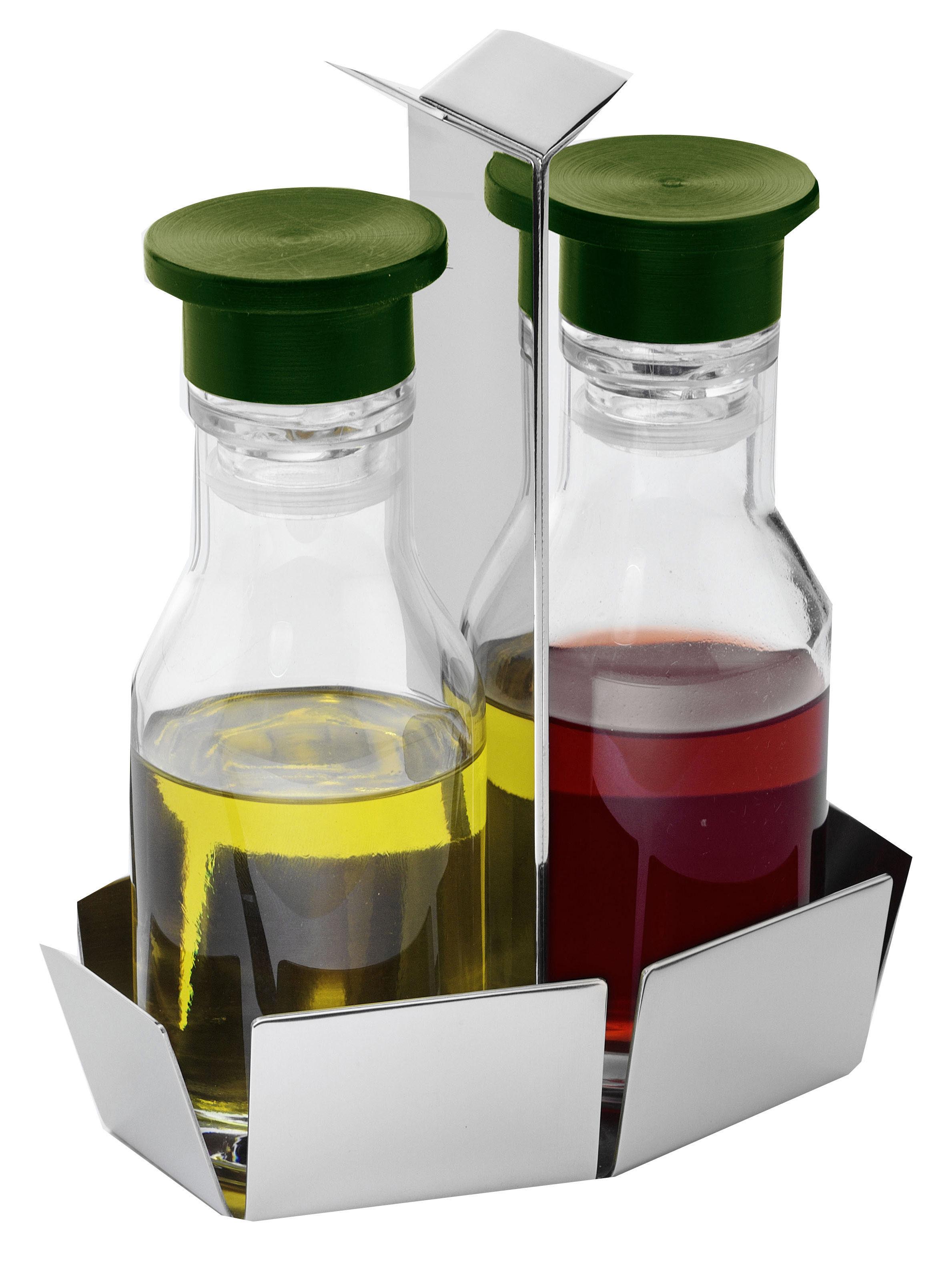 Tableware - Vinegar & Oil Bottles - Aiutante Oil and vinegar set - Oil & vinegar set by Serafino Zani - Polished steel - Polished stainless steel