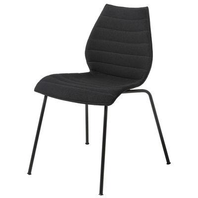 Furniture - Chairs - Maui Soft Padded chair - / Fabric by Kartell - Black (Trevira fabric) / Black legs - Foam, Polypropylene, Trevira fabric, Varnished steel