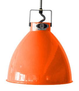 Leuchten - Pendelleuchten - Augustin Pendelleuchte XL / Ø 54 cm - Jieldé - Orange (glänzend) / Innenseite silbern - lackiertes Metall