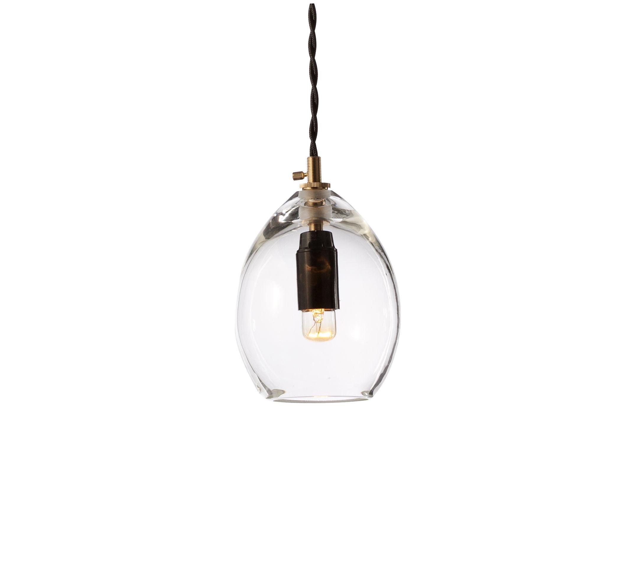 Leuchten - Pendelleuchten - Unika Pendelleuchte Klein - H 13 cm - Northern  - Klein / H 13 cm - transparent - mundgeblasenes Glas