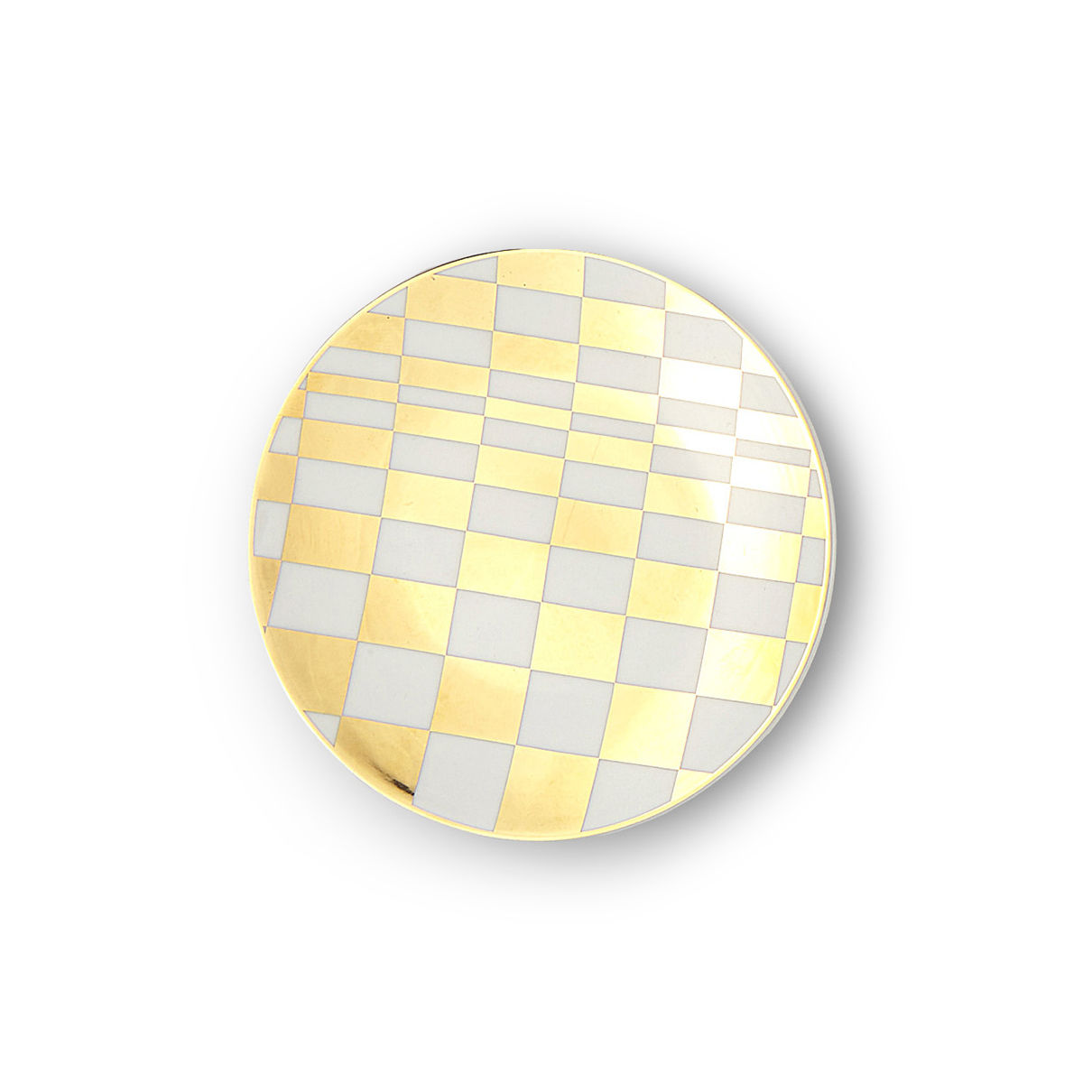 Tableware - Plates - Sibilla Petit fours plates - / Ø 12 cm by Bitossi Home - Grid pattern - China