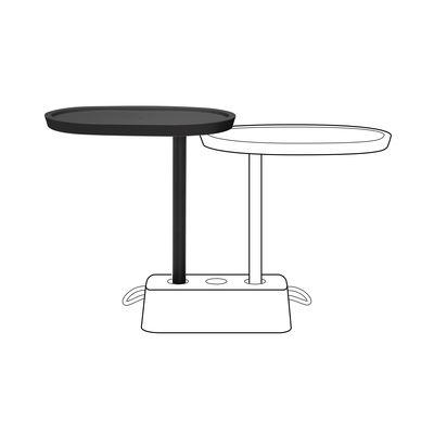 Plateau supplémentaire Brick's Buddy / Pour table Brick - H 67,5 cm / Rotatif - Fatboy gris en matière plastique