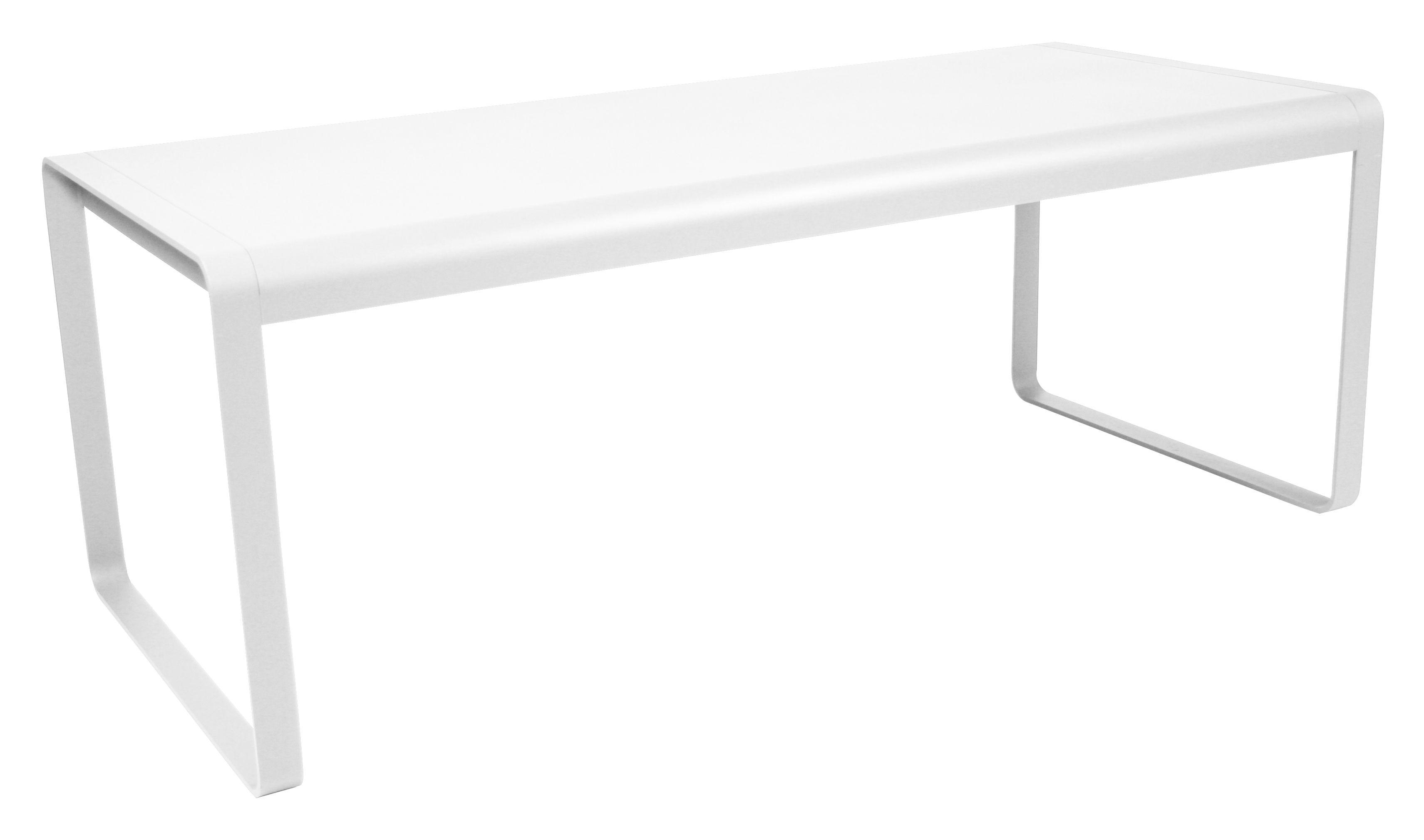Outdoor - Tische - Bellevie rechteckiger Tisch L 196 cm - Für 8 bis 10 Personen - Fermob - Weiß - Aluminium, Stahl