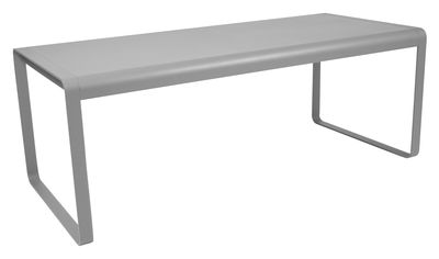 Outdoor - Garden Tables - Bellevie Table rectangulaire - L 196 cm - 8 to 10 places by Fermob - Steel grey - Aluminium, Steel
