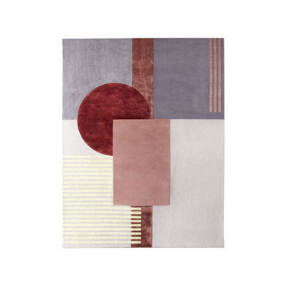 Decoration - Rugs - Around colors Rug - / 230 x 300 cm - Hand-tufted by Wiener GTV Design - 230 x 300 cm / Pink - Viscose, Wool