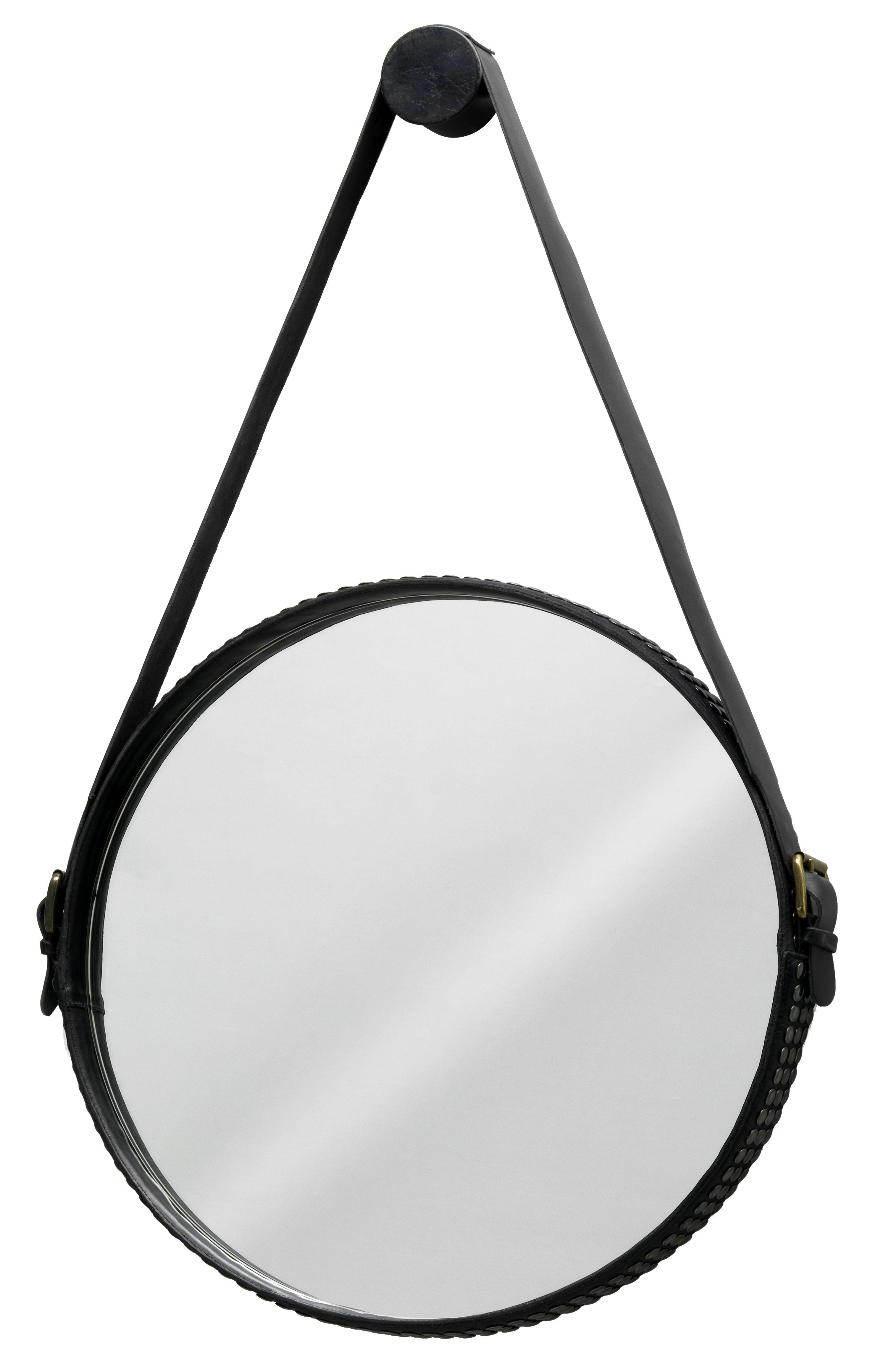 Arredamento - Specchi - Specchio murale Ego Stud di Diesel with Moroso - Nero - Pelle