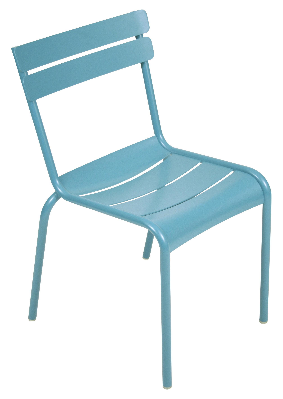 Life Style - Luxembourg Stapelbarer Stuhl - Fermob - Türkis - lackiertes Aluminium