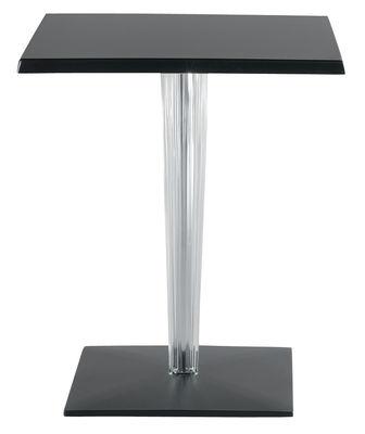 Table de jardin TopTop - Dr. YES / 60x60 cm - Kartell noir en matière plastique