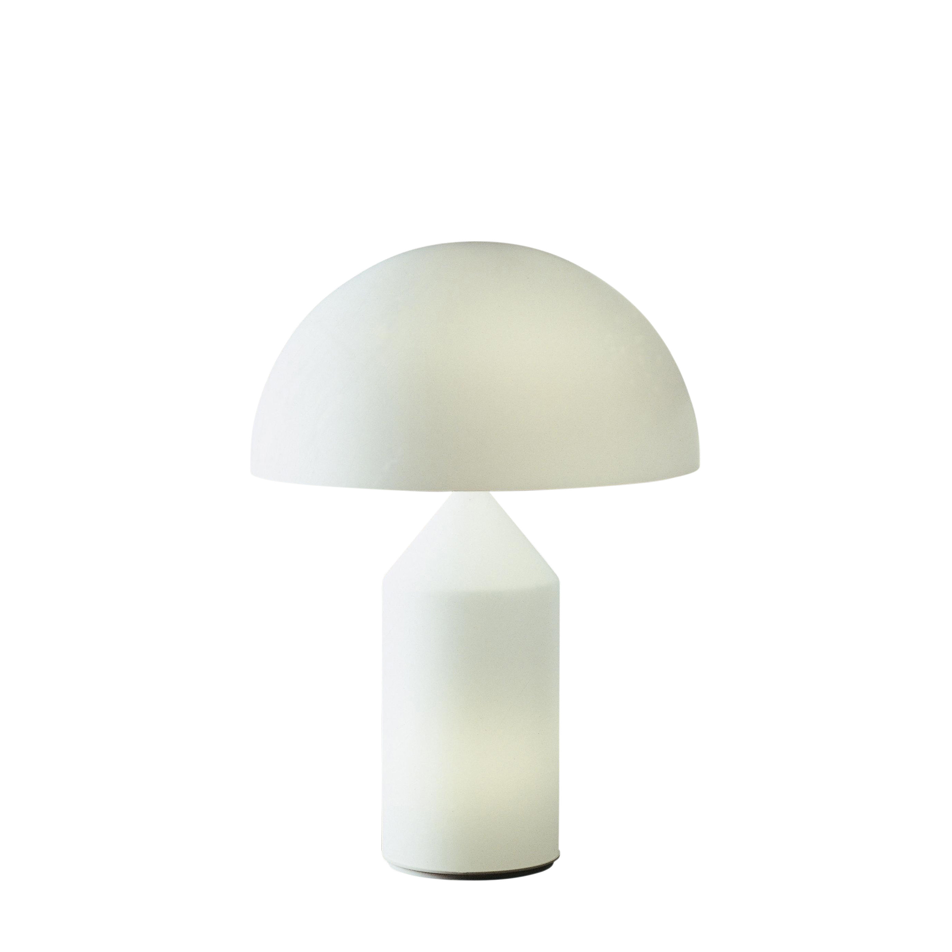 Lighting - Table Lamps - Atollo Medium Table lamp - Verre / H 50 cm / Vico Magistretti, 1977 by O luce - Opal white - Blown glass from Murano